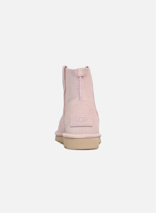 Botines  UGG Classic Unlined Mini Rosa vista lateral derecha