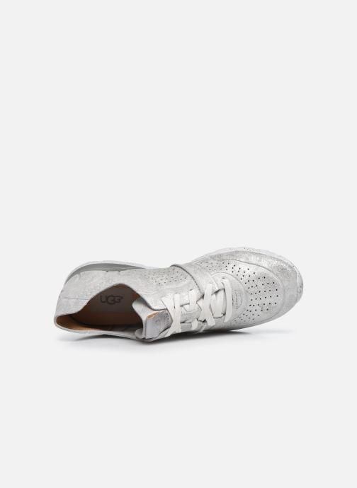 Sneaker UGG Tye Stardust silber ansicht von links