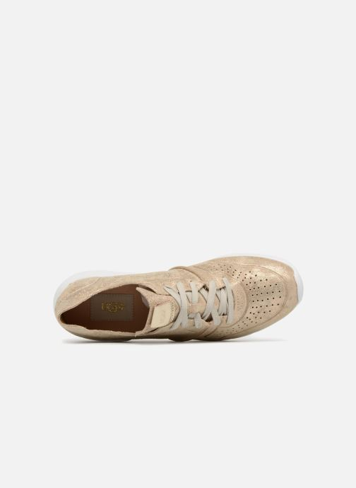 Sneaker UGG Tye Stardust gold/bronze ansicht von links