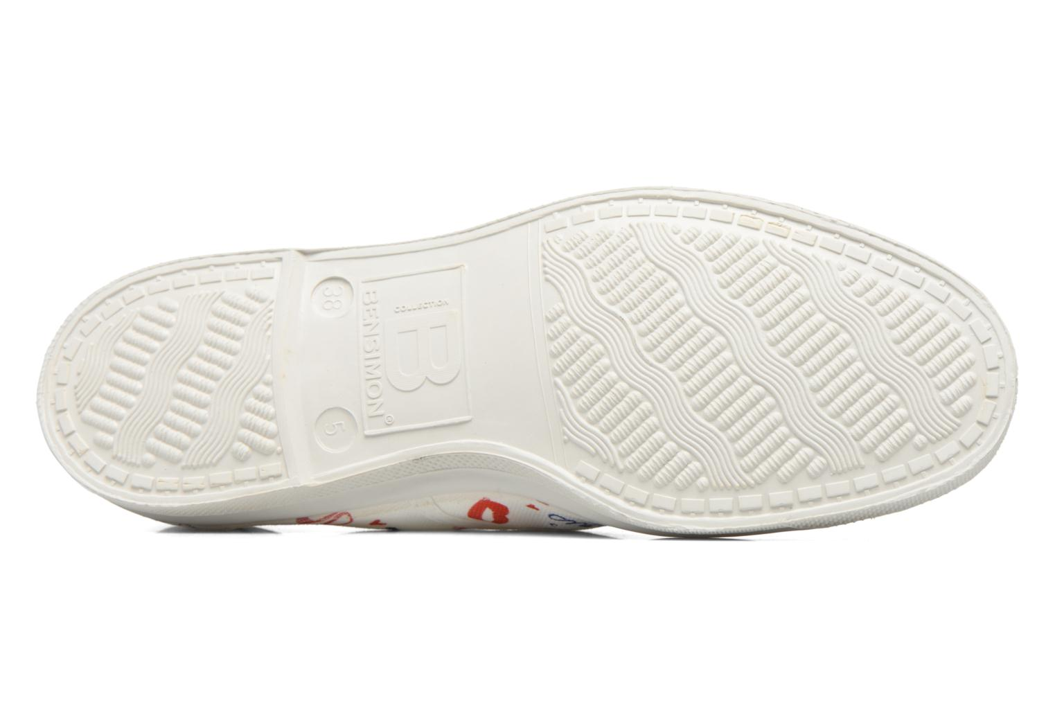 Trainers Bensimon Tennis Marion Bartoli White view from above