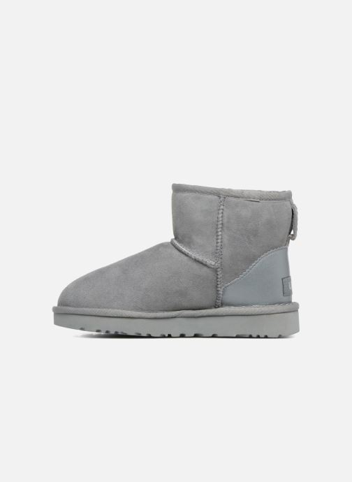 Bottines et boots UGG W Classic Mini II Metallic Gris vue face