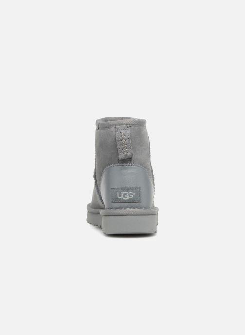 Botines  UGG W Classic Mini II Metallic Gris vista lateral derecha