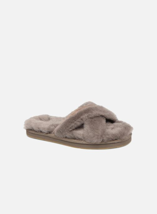 Slippers UGG Abela Beige detailed view/ Pair view