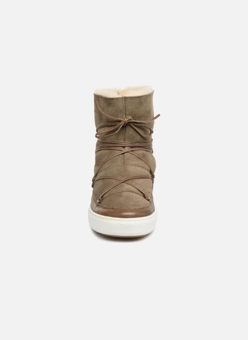 Chaussures de sport Moon Boot Pulse low shearling Vert vue portées chaussures