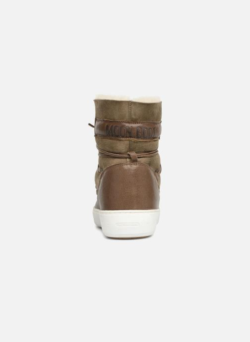 Chaussures de sport Moon Boot Pulse low shearling Vert vue droite