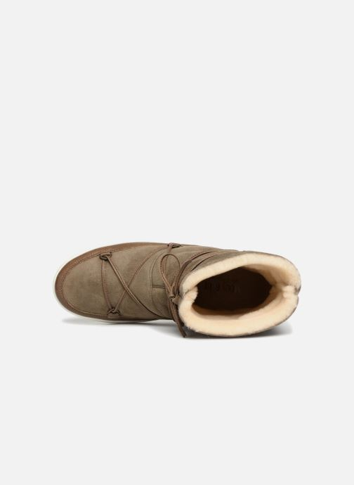 Chaussures de sport Moon Boot Pulse low shearling Vert vue gauche