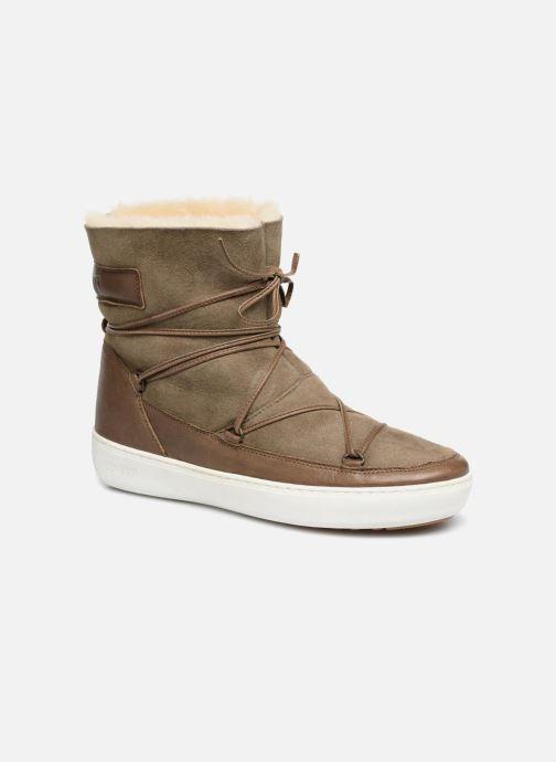 Chaussures de sport Moon Boot Pulse low shearling Vert vue détail/paire