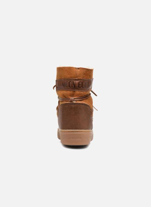 Zapatillas de deporte Moon Boot Pulse low shearling Marrón vista lateral derecha