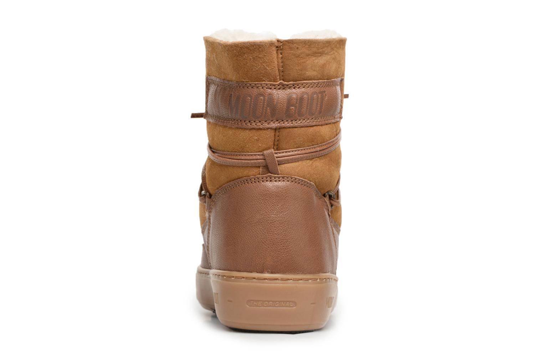Chaussures de sport Moon Boot Pulse low shearling Marron vue droite