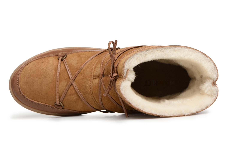 Chaussures de sport Moon Boot Pulse low shearling Marron vue gauche