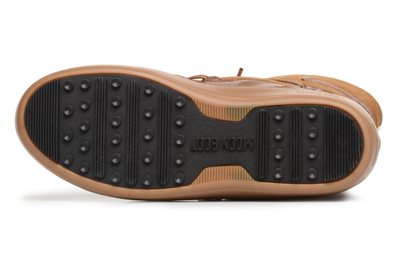 Chaussures de sport Moon Boot Pulse low shearling Marron vue haut