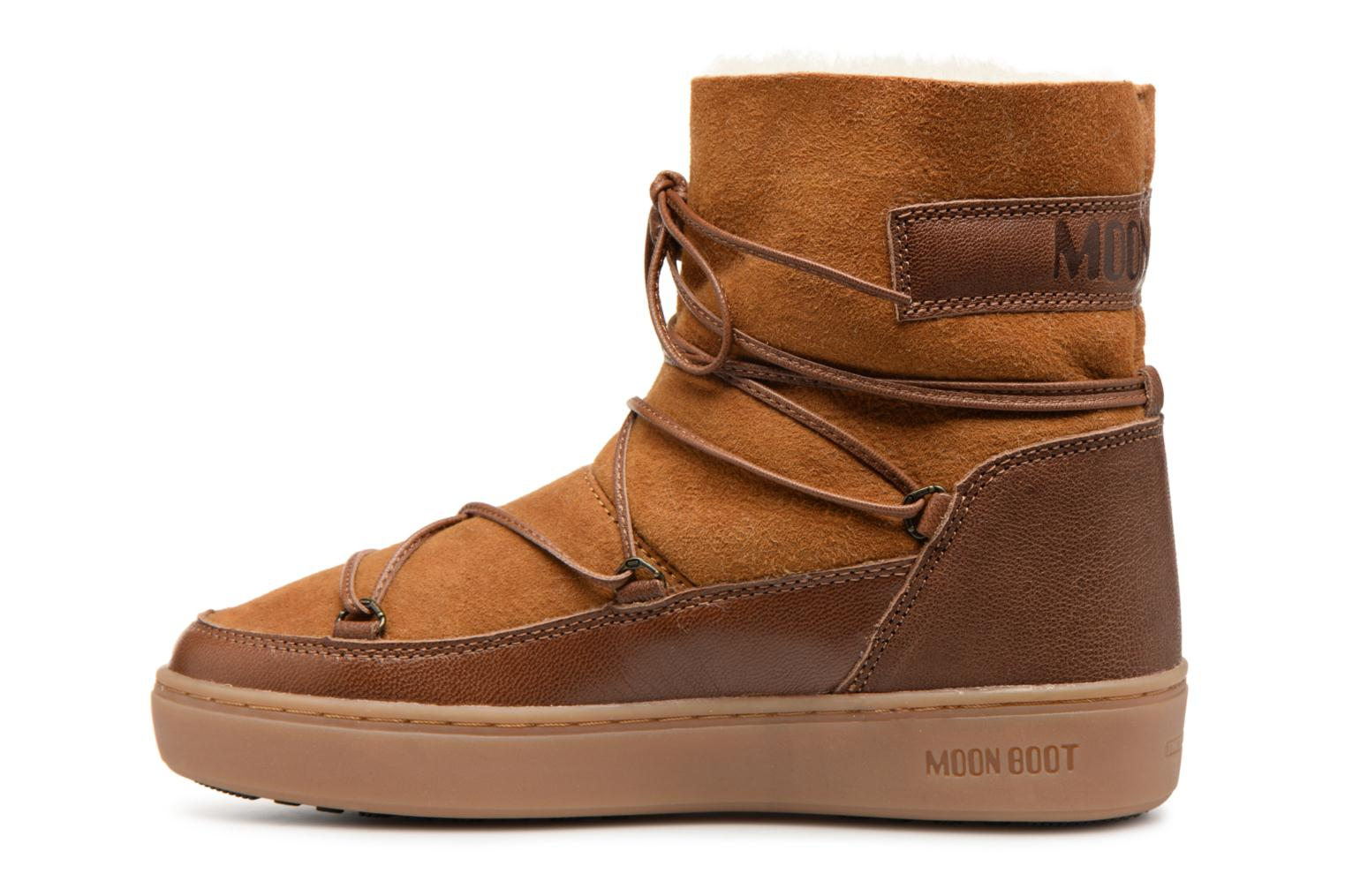 Chaussures de sport Moon Boot Pulse low shearling Marron vue face