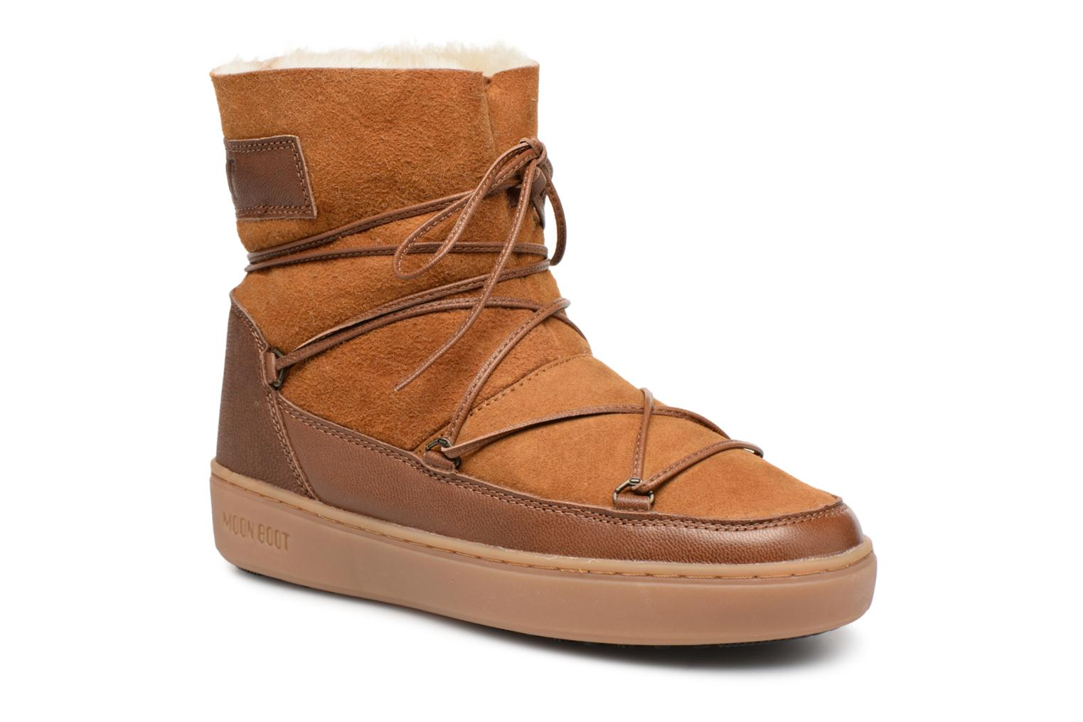 Chaussures de sport Moon Boot Pulse low shearling Marron vue détail/paire
