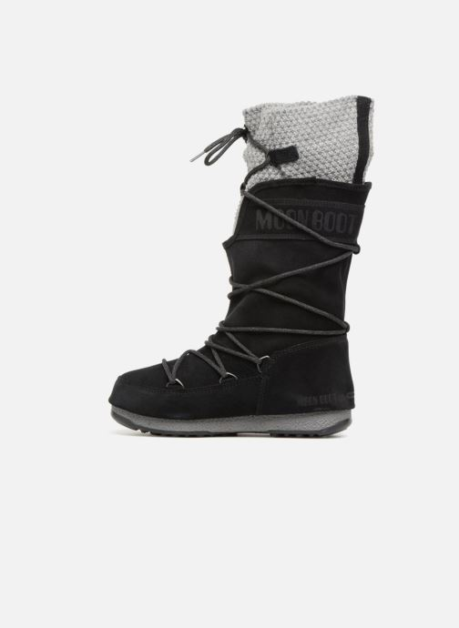 Sportschuhe Moon Boot anversa wool schwarz ansicht von vorne