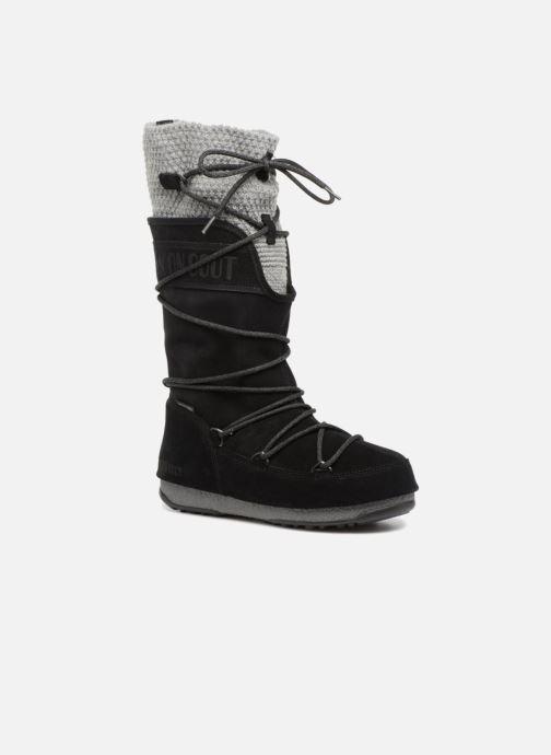 Chaussures de sport Moon Boot anversa wool Noir vue détail/paire