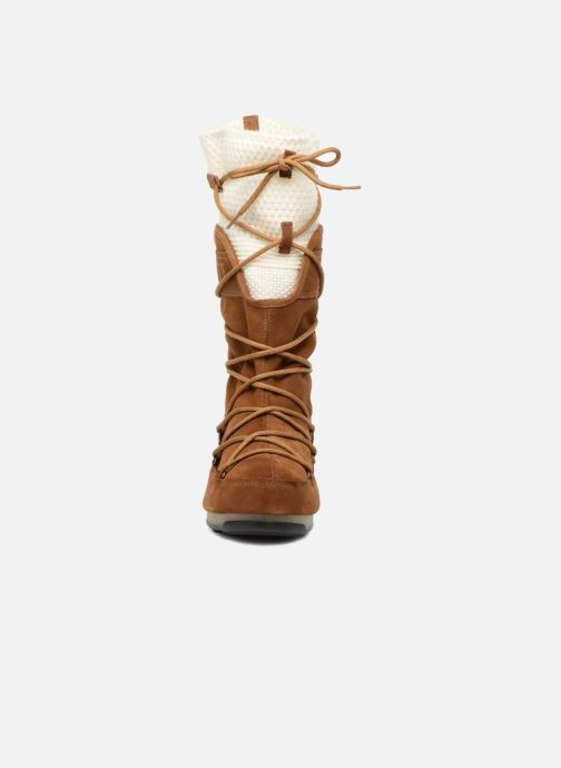 Scarpe sportive Moon Boot anversa wool Marrone modello indossato