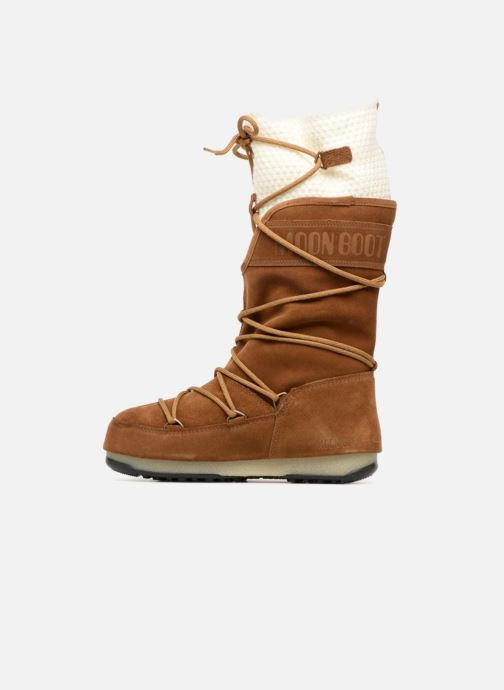 Sport shoes Moon Boot anversa wool Brown front view
