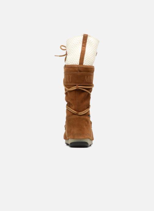 Chaussures de sport Moon Boot anversa wool Marron vue droite