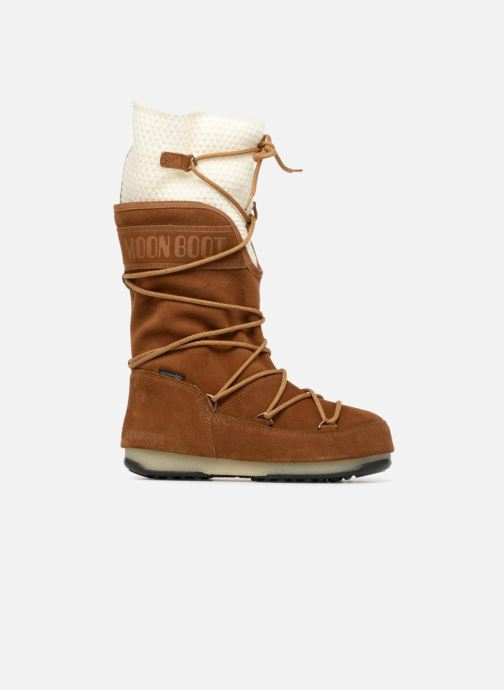 Sport shoes Moon Boot anversa wool Brown back view