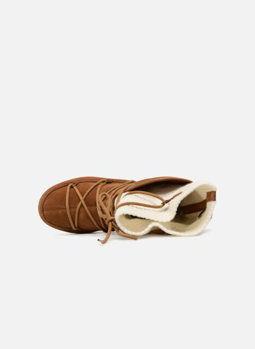 Sport shoes Moon Boot anversa wool Brown view from the left