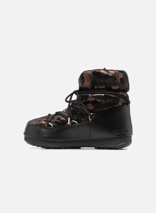 Chaussures de sport Moon Boot low camu Or et bronze vue face