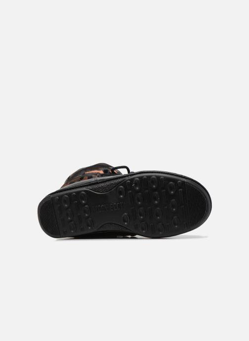 Chaussures de sport Moon Boot low camu Or et bronze vue haut