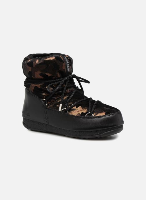 Chaussures de sport Moon Boot low camu Or et bronze vue détail/paire