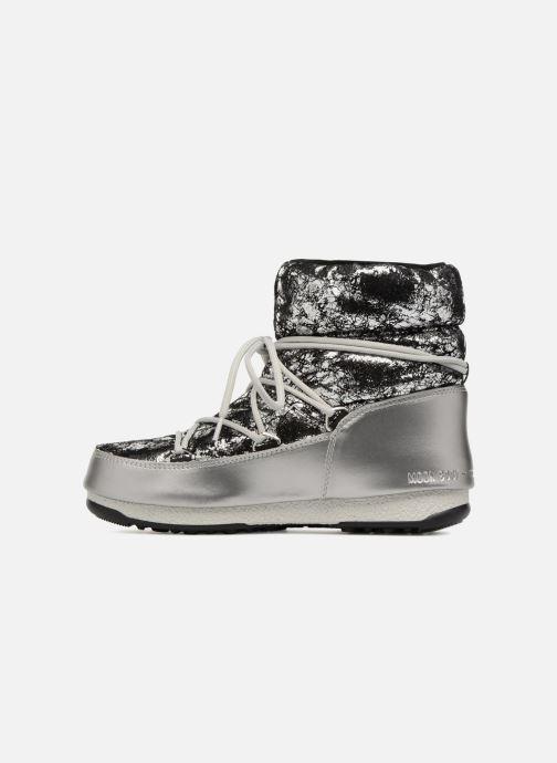Sportschoenen Moon Boot low crackled Zilver voorkant