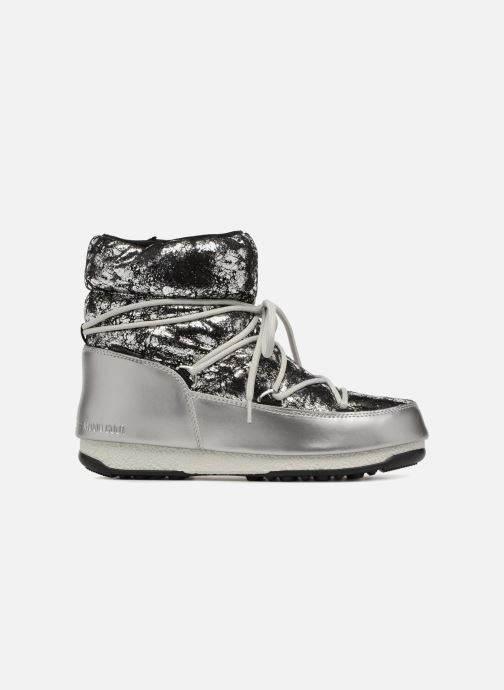 Scarpe sportive Moon Boot low crackled Argento immagine posteriore