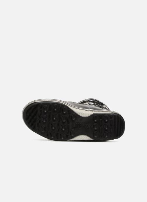 Chaussures de sport Moon Boot low crackled Argent vue haut
