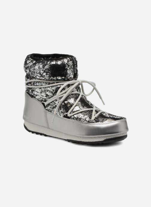 Zapatillas de deporte Moon Boot low crackled Plateado vista de detalle / par
