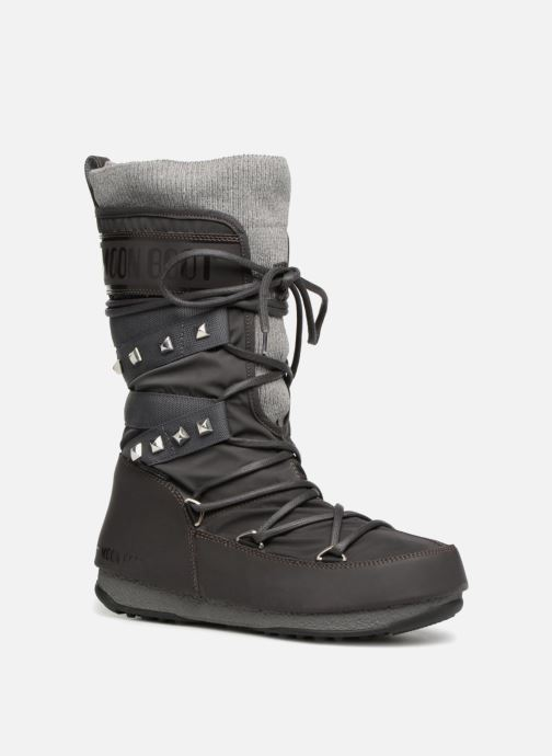 Chaussures de sport Moon Boot Monaco Shadow Gris vue détail/paire