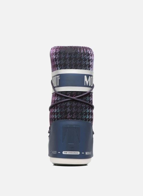 Sport shoes Moon Boot Glam Blue view from the right