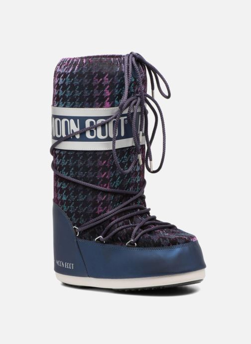 Sport shoes Moon Boot Glam Blue detailed view/ Pair view