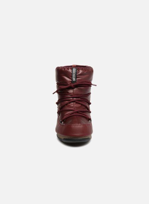 Chaussures de sport Moon Boot Low Nylon Bordeaux vue portées chaussures