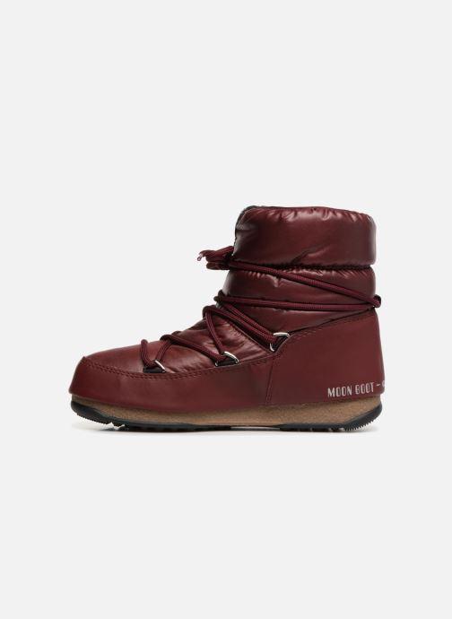 Chaussures de sport Moon Boot Low Nylon Bordeaux vue face