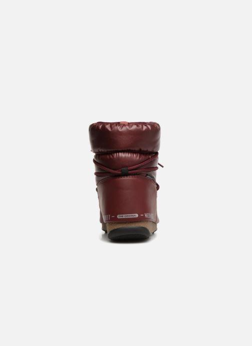 Chaussures de sport Moon Boot Low Nylon Bordeaux vue droite