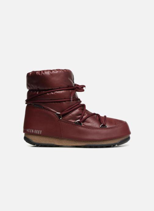 Chaussures de sport Moon Boot Low Nylon Bordeaux vue derrière