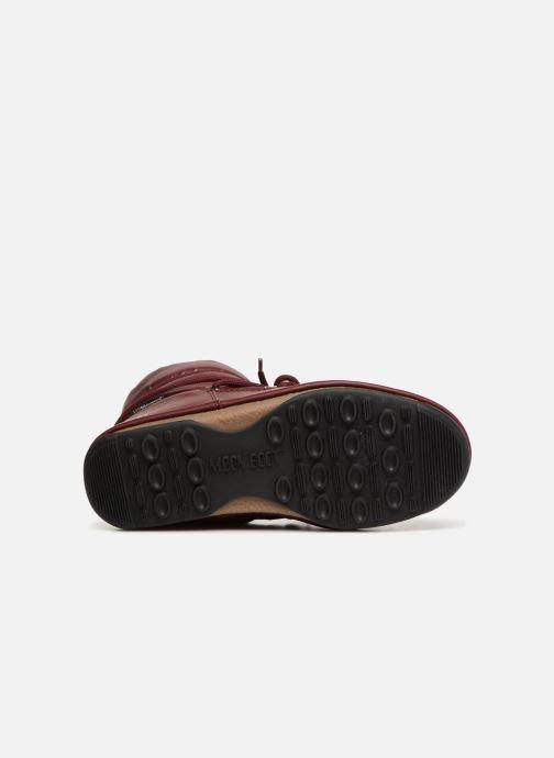 Chaussures de sport Moon Boot Low Nylon Bordeaux vue haut