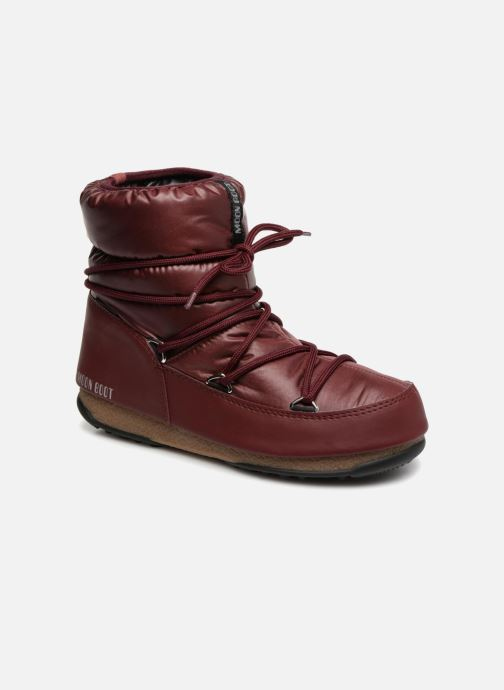 Chaussures de sport Moon Boot Low Nylon Bordeaux vue détail/paire
