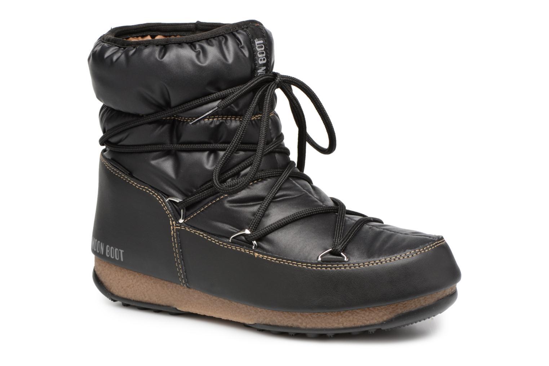 Chaussures de sport Moon Boot Low Nylon Noir vue détail/paire