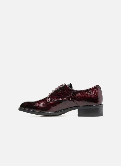 Chaussures à lacets Georgia Rose Galion Bordeaux vue face