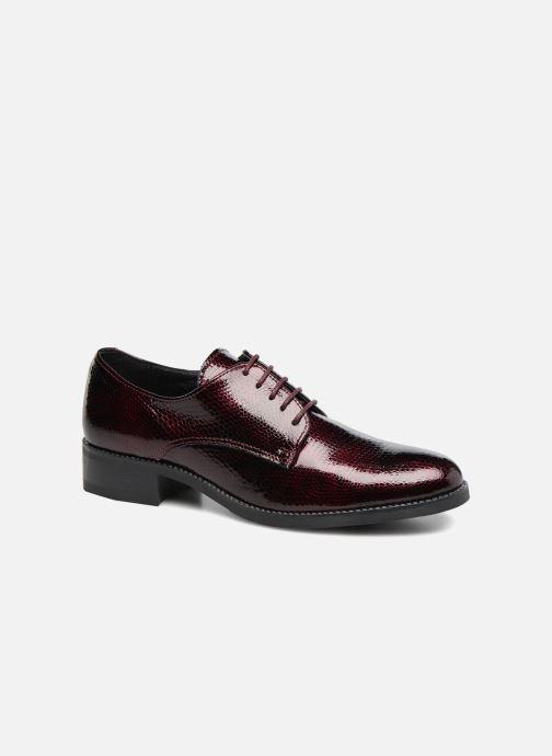 Chaussures à lacets Georgia Rose Galion Bordeaux vue détail/paire