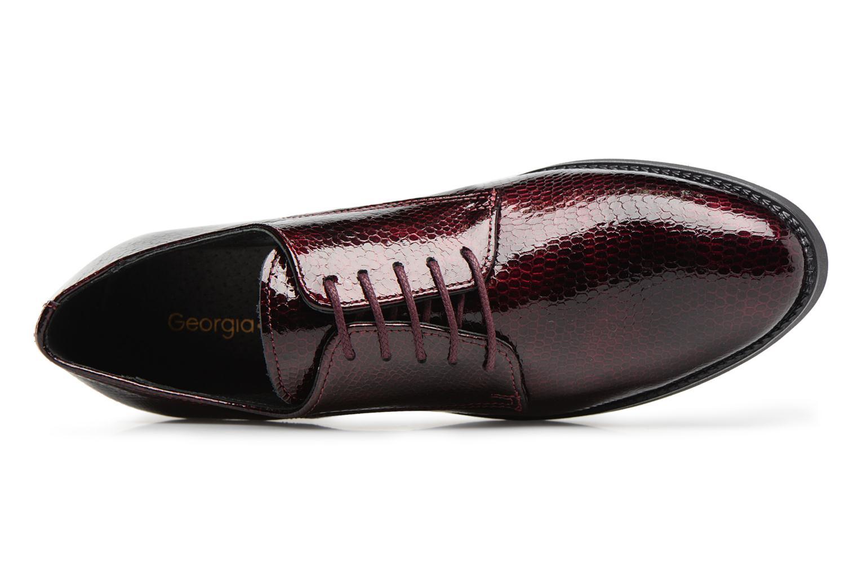 Chaussures à lacets Georgia Rose Galion Bordeaux vue gauche