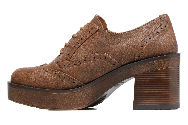 Zapatos con cordones MTNG Priva Marrón vista de frente