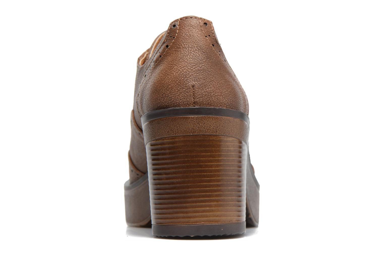Zapatos con cordones MTNG Priva Marrón vista lateral derecha