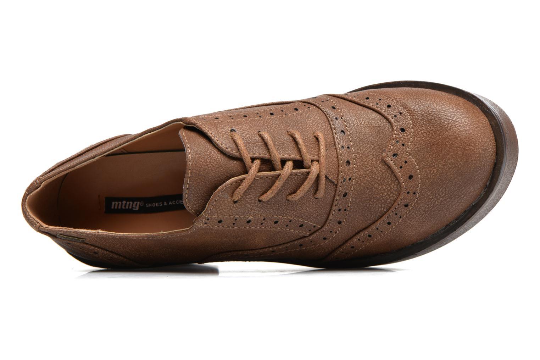 Zapatos con cordones MTNG Priva Marrón vista lateral izquierda