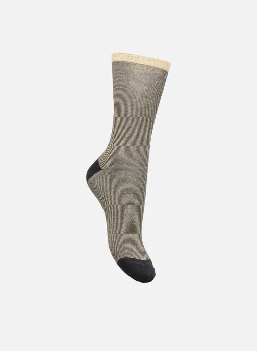 Socks & tights Doré Doré Chaussettes Mille rayures Lurex Bronze and Gold detailed view/ Pair view