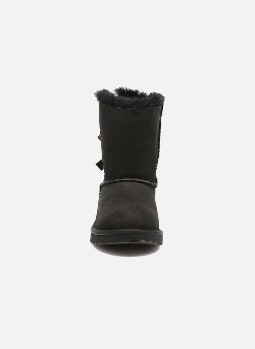 Stiefel UGG Bailey Bow II K schwarz schuhe getragen