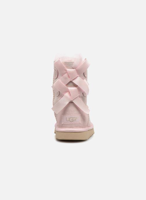 Støvler & gummistøvler UGG Bailey Bow II K Pink Se fra højre
